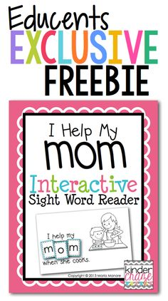 FREE Mother's Day Emergent Reader