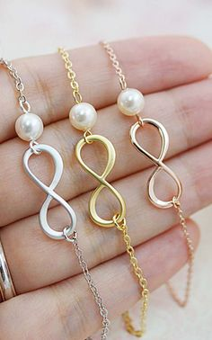 Swarovski pearl necklace - I'll take one in each color, please!