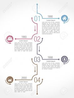 Stock vector of 'Vertical timeline infographics design template, vector il. - Stock vector of 'Vertical timeline infographics design template, vector illustration' - Layout Design, Web Design, Book Design, Timeline Infographic, Infographic Templates, Bts Design Graphique, Timeline Design, Timeline Sample, Timeline Ideas