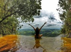 Janela do Ceu, Ibitipoca - MG Places To Travel, Places To See, Travel Destinations, Beautiful Landscape Photography, Beautiful Landscapes, Go Brazil, Waterfall Photo, Water Photography, A Whole New World