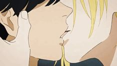 Eiji x Ash (this is from Banana Fish if u are wondering) Manga Anime, Fanarts Anime, Anime Characters, Anime Love, Anime Guys, Monster Falls, Ai No Kusabi, Anime Lindo, Vampire