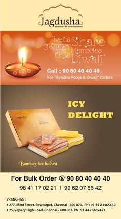 Enjoy the True taste of Bombay Ice Halwa with Jagdusha Sweets & Savories. . .It's time to taste. . .