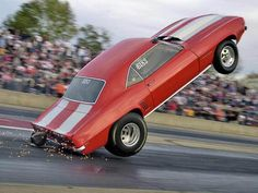 1969 Camaro wheelie3...2...1...Take off