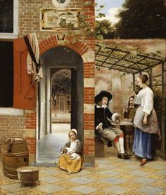 Pieter De Hooch - Courtyard of a House In Delft - art prints and posters