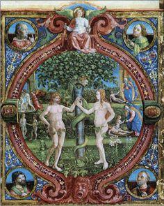Seeking the Plan of God: Montessori and Original Sin Medieval Paintings, Italian Artist, Medieval Art, Paradis, Illuminated Manuscript, Religious Art, Sacred Geometry, Middle Ages, Erotica