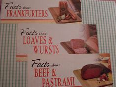 Vintage Ad Notecards   Set 2G by hilarykay on Etsy, $8.00    #etsy #meat cards #bacon #humor #weird gift