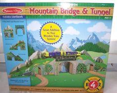 New Melissa & Doug Wooden Mountain Bridge and Tunnel #MelissaDoug