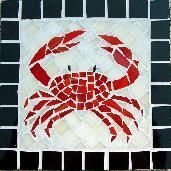 crab,crabs,crustacean,beach,ocean,mosaic,stained glass,tile