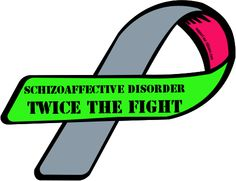 ... version of the Schizoaffective Disorder Awareness Ribbon I created            2X the fight is right!