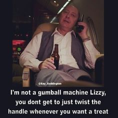 Blacklist Tv Show, The Blacklist Quotes, James Spader Blacklist, Tv Show Quotes, Movie Quotes, Elizabeth Keen, Red Quotes, Boston Legal, Book Tv