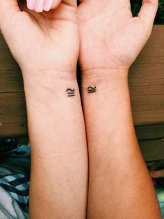 Resultado de imagen de minimalist sister tattoo