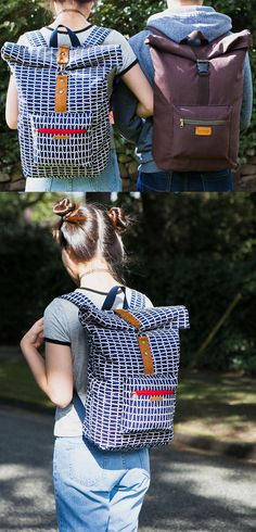 Roxanne Rolltop Backpack PDF Pattern - ithinksew.com