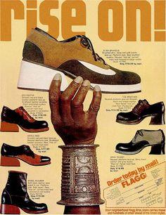 """Flagg Shoes, 1972    """"Rise On""""    EBONY magazine  April 1972"""