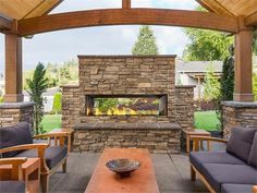 """Backyard Patio Pergola Fireplaces Best Ideas Linear 60 """"gas fireplace for outdoor use How to make an outdoor fireplace in 4 stepsHow to build an outdoor fireplace Step Stack the parts of a Outdoor Gas Fireplace, Outdoor Fireplace Designs, Backyard Fireplace, Stove Fireplace, Fireplace Ideas, Fireplace Makeovers, Porch Fireplace, Simple Fireplace, Gas Fireplaces"""