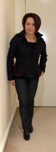 Burda jacket, Butterick top, Vogue jeans using Minerva Crafts UK fabric. Trying to style for one of the factions in Divergent the movie. Day 1