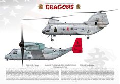 "UNITED STATES MARINE CORPS Marine Medium Tiltrotor Squadron 265 (VMM-265) ""Dragons"" From SeaKnight to OspreyMarine Corps Air Station Futenma, Okinawa, Japan"