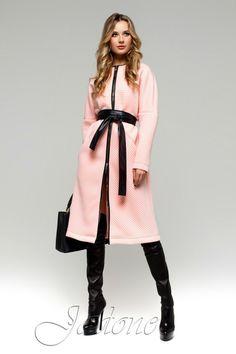 Тренч-пальто Greta розовое