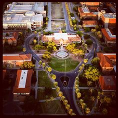 The view from above at the University of Arizona.