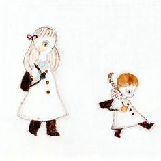 姉妹 #illustration #illustrator #イラストレーション #イラストレーター #winter #girl #冬 #女の子 #子供 #child #children