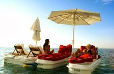 yep that just looks the goods.  design-dautore.com: FLOATING CABANA