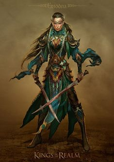 dual wield fantasy female fighter - Google Search