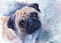 Benutzerdefinierte Haustier Porträt Custom von AnellHappyWatercolor