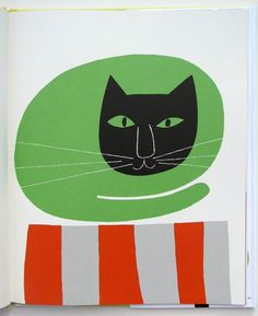 """Cat illustration from """"I Know a lot of Things"""" by Ann and Paul Rand published in 1956 Modern Graphic Design, Graphic Art, Art Students League, Art Et Illustration, Cat Illustrations, Mundo Animal, Art Design, Magazine Art, Crazy Cats"""