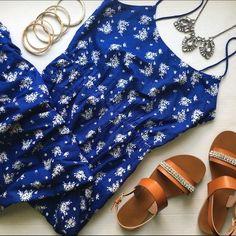 J. Crew Blue And White Maxi Dress