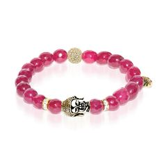 Namaste - Wine Red Jade - Gold Buddha Dharma Stone Bracelet. Namaste, a traditional greeting that remains commonplace in our contemporary world, is the salutation of one soul meeting another. See more at: http://www.josephnogucci.com/products/namaste-wine-red-jade-gold-crystal-buddha-charm-bracelet