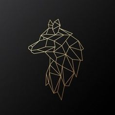 Geometrischer Goldwolf Geometrischer Goldwolf - Geometrischer Goldwolf Geometrischer Goldwolf Sie sind an de - Geometric Wolf Tattoo, Geometric Drawing, Geometric Lines, Geometric Designs, Geometric Tattoo Animal, Gold Drawing, Tattoo Abstract, Geometric Sleeve, Tribal Sleeve