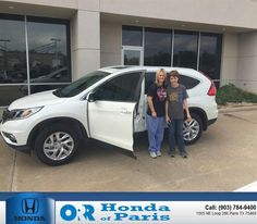 https://flic.kr/p/FxETBd | Happy Anniversary to Kelli on your #Honda #CR-V from Tyler Bush at Orr Honda of Paris! | deliverymaxx.com/DealerReviews.aspx?DealerCode=G978
