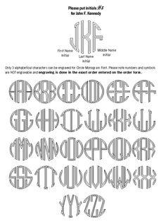 block monogram lettering