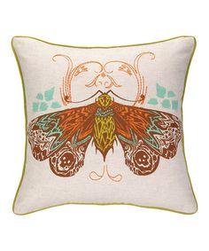 Love this Moth Decorative Pillow by Peking Handicraft on #zulily! #zulilyfinds