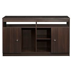 Rack Murillo Long Tv Stand, Tv Furniture, Desk Hutch, Storage, Simple, Kitchen, Cabinets, Chocolate, Home Decor