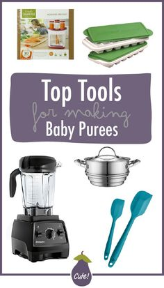 15 stage one baby puree recipes that will tempt your baby's taste buds! These easy-to-make recipes are made with nutrient dense fruits and vegetables with an added pinch of spice to make these purees out-of-this-world delicious!  Recently, I have been getting a ton of new readers looking for starter