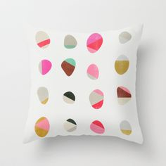 Painted Pebbles 1 Throw Pillow by Garima Dhawan