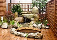mini jardin japonais, représentation de jardin japonais réalistique