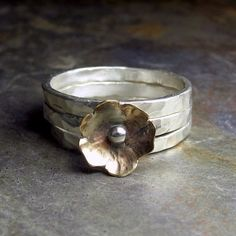 Petite Bloom stacking rings     ...from Lavender Cottage on Etsy