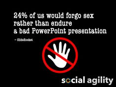 Another reason to avoid content heavy boring presentations...... #funnystat