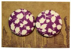 Button Earrings / Wholesale / Handmade / Gifts / by ManhattanHippy, $5.50