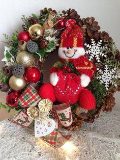 Vianočný veniec snehuliak / anad333 - SAShE.sk - Handmade Dekorácie