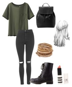 """""""Derek hale inspired outfit"""" by lexi-tolhurst ❤ liked on Polyvore featuring Uniqlo, Topshop, Charlotte Russe, MANGO and Chan Luu"""