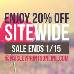 20% OFF SITEWIDE SALE #paisleyprintsonline #invitations #affordableinvitations #smallbusiness