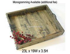 Ottoman Tray XL Wood Coffee Table Tray Dry Use by BridgewoodPlace, $105.00
