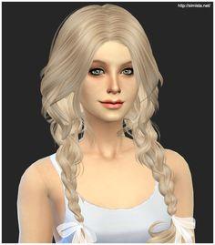 Simista: Newsea`s Ela 23 hairstyle retextured - Sims 4 Hairs - http://sims4hairs.com/simista-newseas-ela-23-hairstyle-retextured/