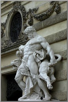 Vienna, Austria | Hercules with lion and dove-of-peace by Walter A. Aue, via Flickr Sharing