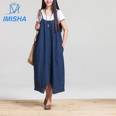22.00$  Buy here - http://ali8hd.shopchina.info/go.php?t=32802213392 - Imisha 2017 Summer braces  Vintage Cotton wide leg pants loose big code jeans nine minutes pants  Loose pants with S ML size 22.00$ #buymethat