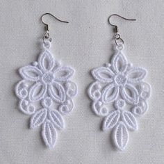 FSL Delicate Earrings 6 - 4x4 | What's New | Machine Embroidery Designs | SWAKembroidery.com Ace Points Embroidery