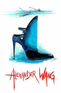 Iℓℓυsтяαтισηѕ Wacky Fashion Shoe Illustrations by Achraf Amiri  #blingiton #blingaccessories #theblingstreet www.theblingstreet.com
