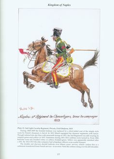 Kingdom of Naples: Plate 23. 2nd Light Cavalry Regiment, Private, Field Uniform, 1813.